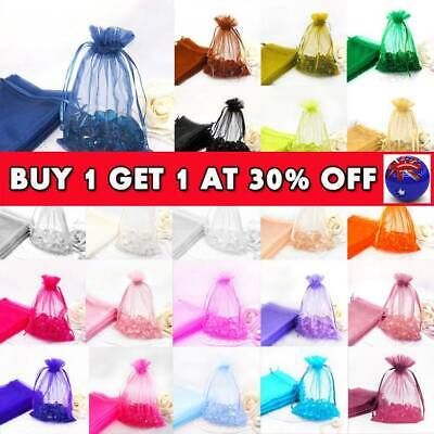 100Pcs Organza Gift Bags Wedding Party Favour Xmas Jewellery Candy Pouches CB