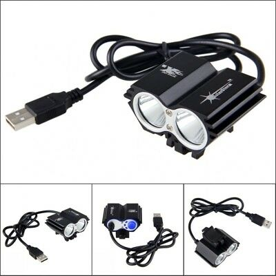 8000LM XM-L T6 LED Bicycle Cycling Headlight Mountain Bike Front Lamp USB 4-Mode