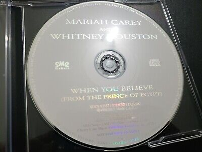 Mariah Carey Whitney Houston When You Believe JAPANESE Promo CD Single- caution