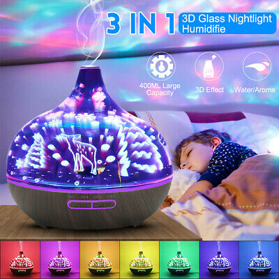 Essential LED Oil Ultrasonic Aromatherapy Diffuser Mist Humidifier Purifier