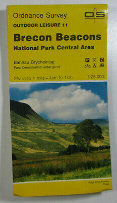 1988 Old OS Ordnance Survey Outdoor Leisure Map 11 Brecon Beacons Central Area