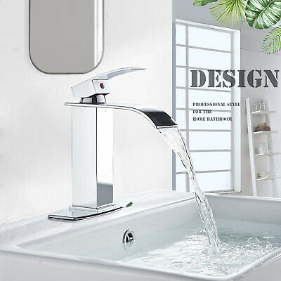 Chrome Bathroom Sink Faucet Basin Single Hole Single Lever Mixer Tap With Cover