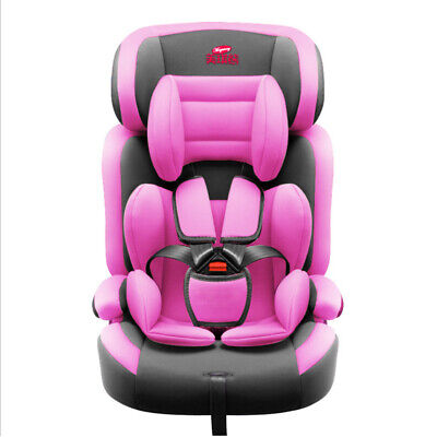Pink Child Baby Car Seat Safety Booster For Group 1/2/3 9 month - 12 years old