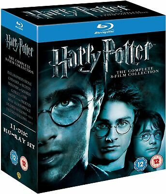 Harry Potter: The Complete 8-Film Collection - U.K. Region B Blu Ray Box Set