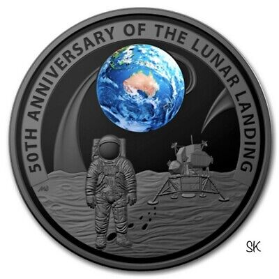 2019 50th Moon Landing 1oz Silver Proof Domed Coin