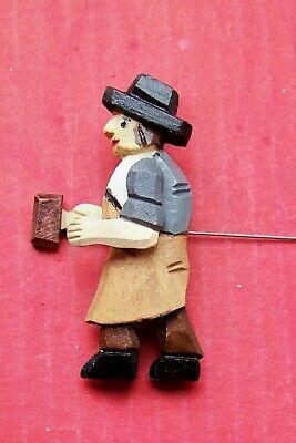 Blacksmith,  new all wood hand carved for a cuckoo clock.