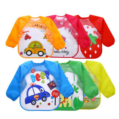 new Toddler Bibs with Sleeves Ideal for weaning 6-24 months approx