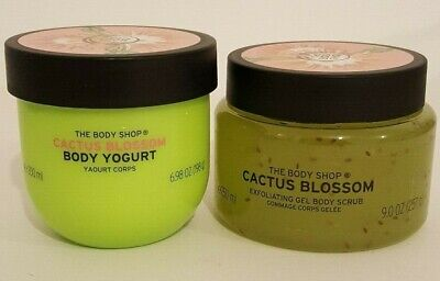 The Body Shop Special Edition Cactus Blossom Body Scrub 250ml & Body Yogurt