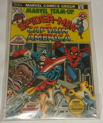 Amazing Spider Man Team Up #13 Sept 1973 With Captain America Rare One !