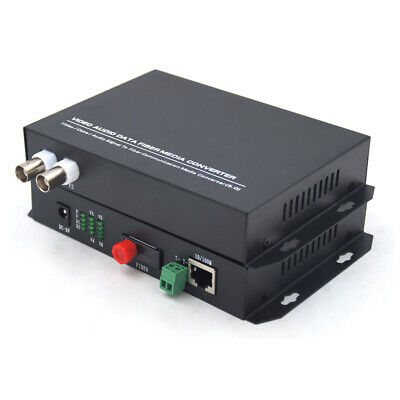 2CH Video Ethernet to Fiber optic media converters FC-Transmitter and Receiver