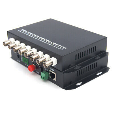 8CH Video Ethernet over Fiber optic media converters FC-Transmitter and Receiver