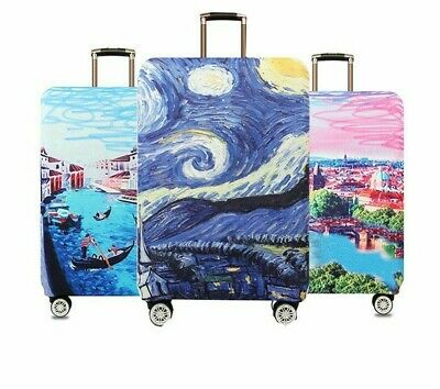 Starry Night Design Luggage Dust Covers Travel Suitcase Cute Elastic Protectives