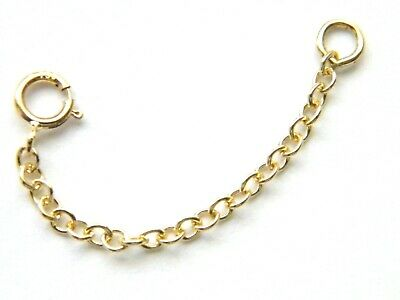 "18ct Yellow Gold 2"" Safety/ Extension Chain-Extender for Necklaces 18K/.750"