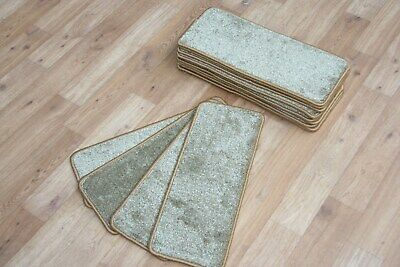 14 Carpet Stair Case Treads Oban Beige Quality 14 Large Thick Pads