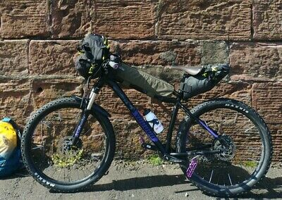 Uraltour bike, bikepacking top tube bag