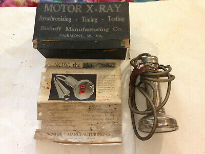 Rare Antique 1930'S Vintage Motor X Ray Timing Light In Box!!