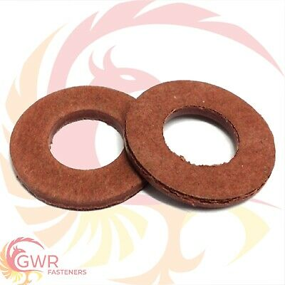 5mm 6mm 8mm 10mm 12mm 14mm 16mm 18mm 20mm Metric RED FIBRE SEALING WASHER Spacer