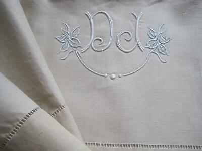 Unused Vintage French Pure Linen Sheet, Quality Fabric, Curtain, Furnishings