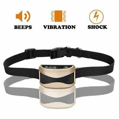 Anti Bark Barking Collar Vibration Electric Sound Pet Dogs Waterproof Training