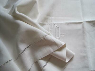 Smooth Vintage French Pure Linen Sheet, Lovely Bedding Or Curtain Fabric