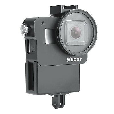 Portable Sports Cam Protective Case Cage for GoPro Hero 5/6/7 w/ UV Lens Filter