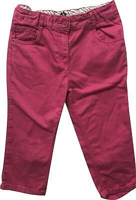 PRE-OWNED Girls George Pink Cropped Trousers Size 8-9 Years KM326