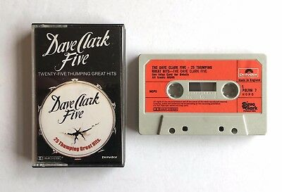 DAVE CLARK FIVE - 25 THUMPING GREAT HITS - Cassette POLVM7 - PAPER LABELS