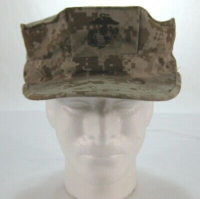 3cd52272 Usmc Marine Garrison Cover Sz Xl Desert Marpat 8 Point Cap Hat 8405-01-