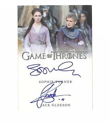 Rittenhouse Game Of Thrones Inflexions Sophie Turner Jack Gleeson dual auto card