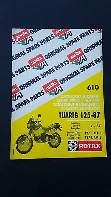 Aprilia Tuareg 125 1987 catalogo ricambi MOTORE- ENGINE spare parts catalogue