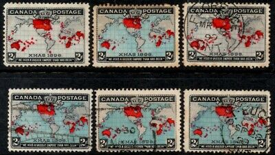 Canada 1898  2c Christmas/Imperial Penny Post Selection  SG.166/168 Mint & Used