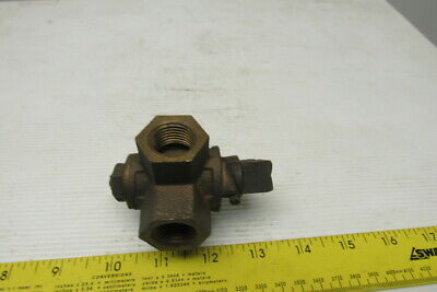 "Crane 3 Way Bronze Diverting Valve 1/2"" NPT"