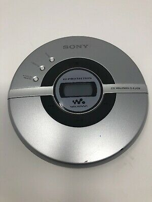 Sony CD Walkman D-EJ109 Discman G Protection Silver Portable  Mega Bass CD-R/RW