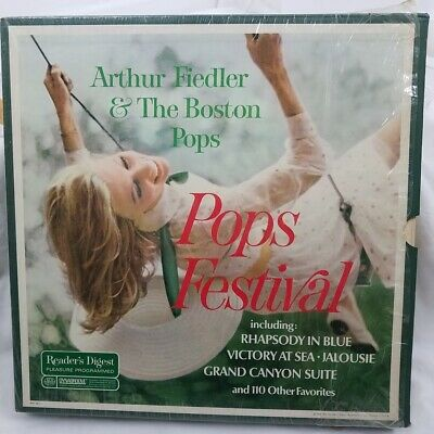 Arthur Fiedler & Boston Pops 10 Album Vtg 1967 Readers Digest LP Record Box Set