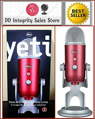 BRAND NEW BLUE Microphones YETI USB STEEL RED Microphone TRUSTED SELLER FASTSHIP