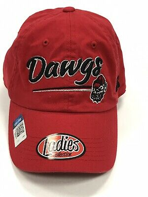 outlet store 61055 ab5ea Women s College Georgia Bulldogs Dawgs Logo Red Cap Hat Adjustable RARE