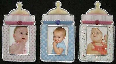 Magnetic Photo Frame Stand Baby Bottle Boys Girls Plastic Fridge Magnet Gift NEW