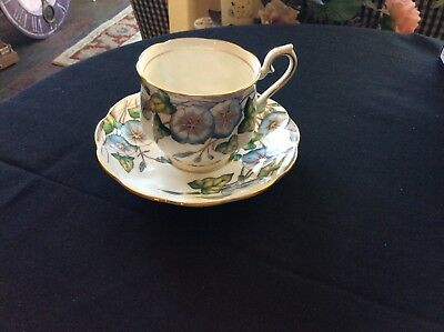 Royal Albert China Flower of the Month #9 Morning Glory Tea Coffee Cup & Saucer