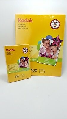Kodak new Inkjet Glossy Photo Paper size  8.5 x 11 and 4 x 6 100 Sheets lot 2