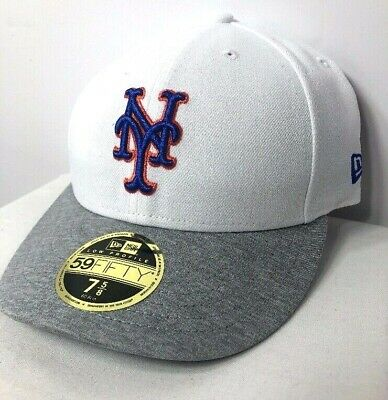 5dc23a5a New York Mets New Era MLB 59Fifty Tech Sweep Low Profile Fitted Cap 7 5/