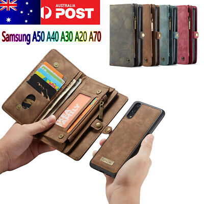 For Samsung Galaxy A50 A70 A30 A40 Magnetic Leather Removable Wallet Case Cover