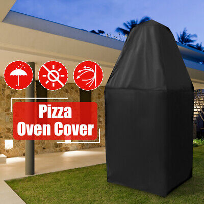 Large Pizza Oven Cover Outdoor Fired Charcoal BBQ Rain Waterproof Cloth Black AU