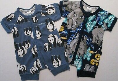BONDS Toddler Baby Boys Wondersuit Romper Bodysuit Animal Print Sz 000 00 0 1