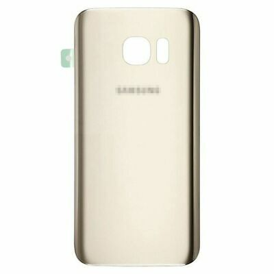 For Samsung Galaxy S7 G930 Back Housing Battery Cover Rear Door Glass Gold AAAA