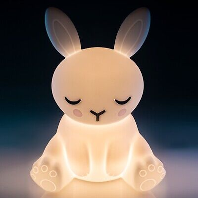 ~❤️~BUNNY NIGHT LIGHT Rabbit Rechargeable Soft/Cool to touch BNIB white glow❤️