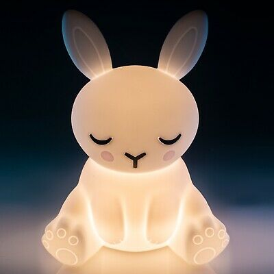 ~❤️BUNNY NIGHT LIGHT Rabbit Rechargeable USB Soft/Cool touch LED white glow❤️