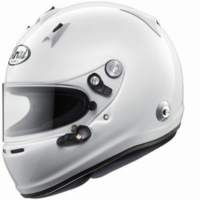 01292693 Arai GP-6 PED Helmet Rally Race Racing WHITE Sport Protect FIA 8859 Snell