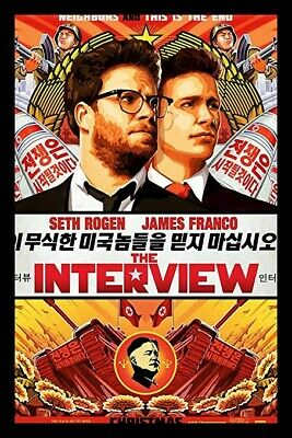 The Interview - 2014 Original Authentic Movie Theater Poster Double Sided 27x40