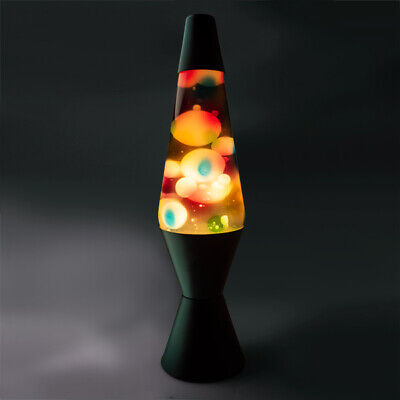 ~❤️~LAVA LAMP GRAFFITI Night Light 36cms multi coloured PLUG-IN BNIB~❤️