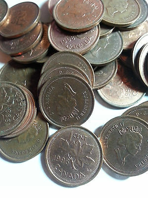 Canada - One Roll Of 1998 Lot A - 50 Small Cents (50 Coins) - Circulated